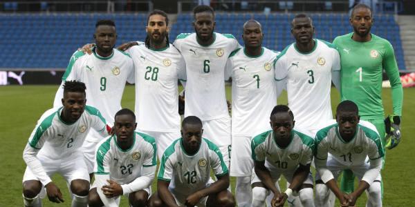 La sélection sénégalaise de football, le 27 mars 2018.