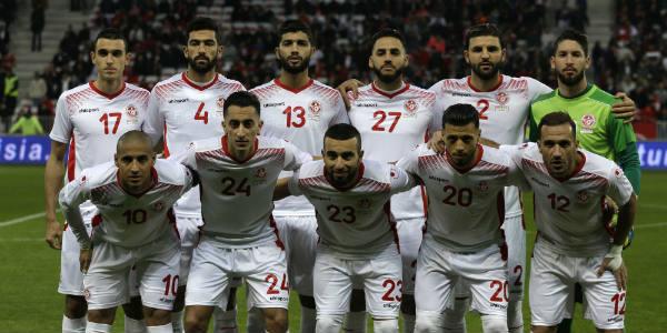 La sélection tunisienne de football, le 27 mars 2018.