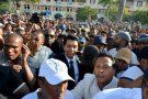 Andry Rajoelina, ancien président malgache, dans la foule à Antananarivo, le 23 avril 2018.