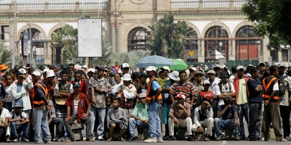 Les partisans de Andry Rajoelina, au début d'un rassemblement antigouvernemental à Antananarivo, à Madagascar, le samedi 31 janvier 2009. (photo d'illustration)