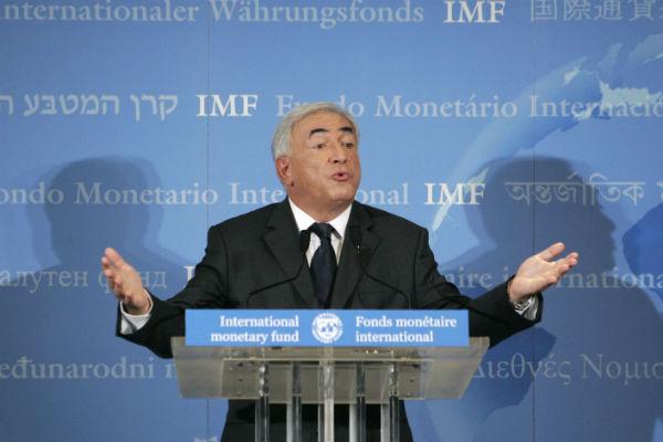 Dominique Strauss-Kahn, lors de sa nomination à la tête du FMI, en 2007.