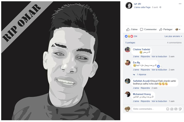 Capture d'écran d'un compte Facebook réclamant