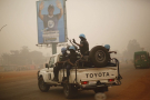 Une patrouille de la Minusca dans les rues de Bangui.