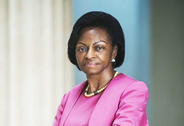 Marie-Madeleine Mborantsuo, présidente de la Cour constitutionnelle.