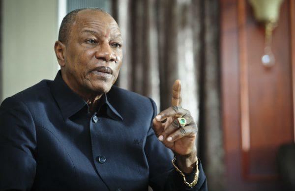 Alpha Condé, le président guinéen, au palais présidentiel à Conakry en octobre 2016.