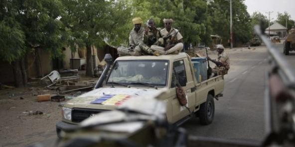 Des forces tchadiennes engagée contre Boko Haram lors d'un exercice conjoint avec l'armée nigériane en 2015.