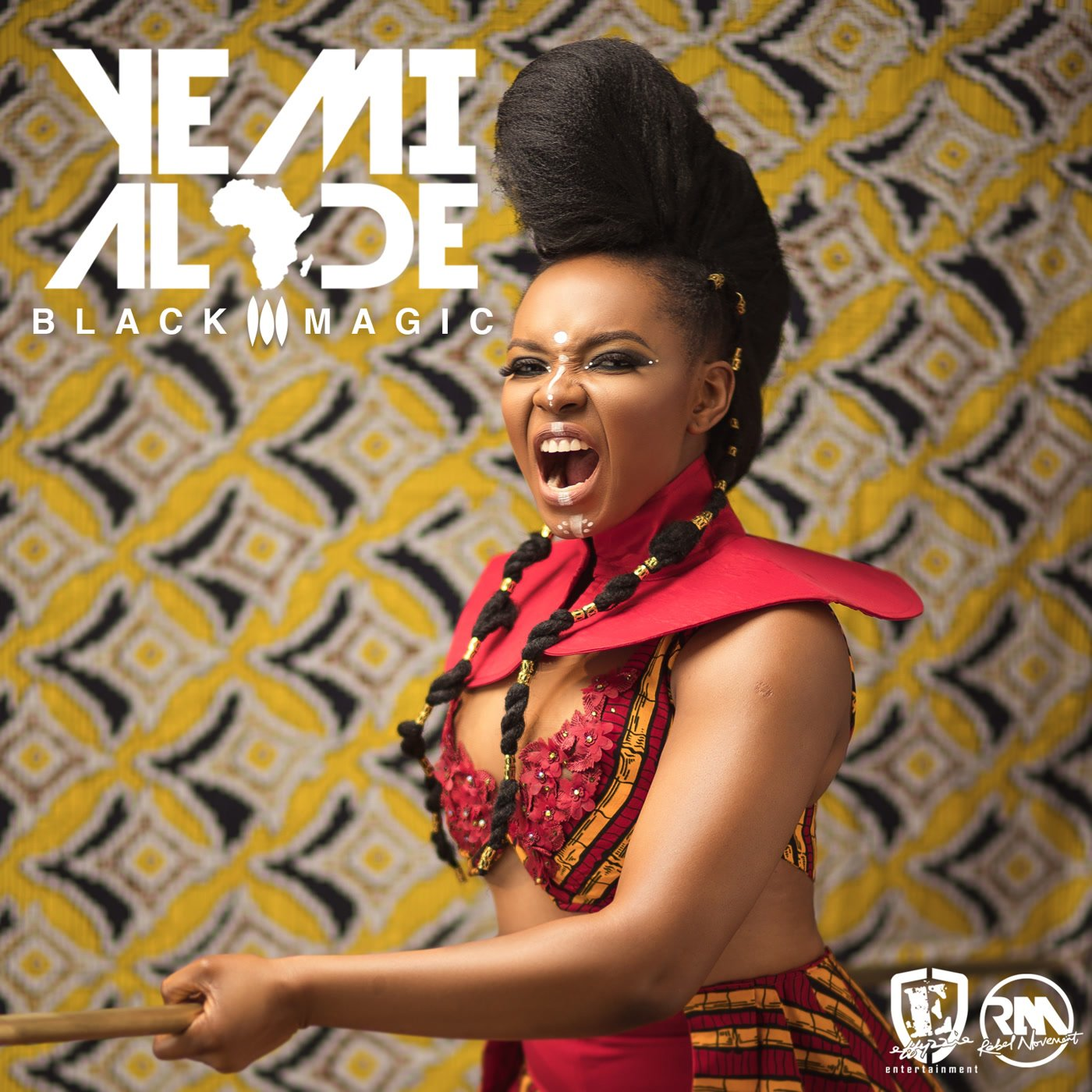 "Détail de la pochette de l'album ""Black Magic"" de Yemi Alade (Effyzzie Music, 9,99 euros)."