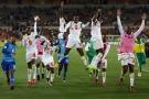 Le Sénégal s'est qualifié en battant l'Afrique duSud 2-0 le 10novembre 2017 à Polokwane (Afrique du Sud)