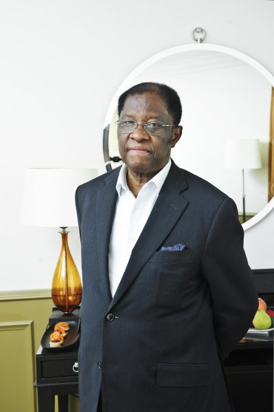L'ancien ministre de la Justice, Alexis Thambwe-Mwamba, à Paris, le 20juin 2017.