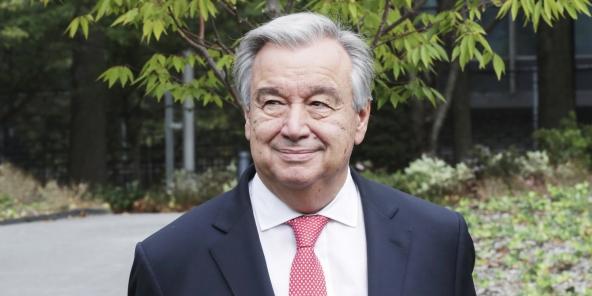 Devant le siège des Nations unies, en octobre 2017, à New York.