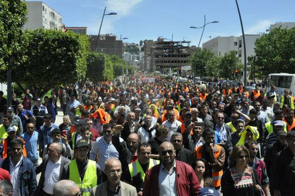 La marche organisée, dans les rues de la ville de Bejaia, par le Comité de soutien aux travailleurs de Cevital afin demander le déblocage des projets du premier groupe privé du pays.