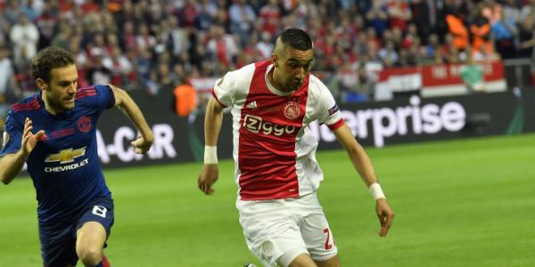Hakim Ziyech (Ajax Amsterdam) en finale de l'Europa League contre Manchester United, le 24 mai 2017 à Stockholm.