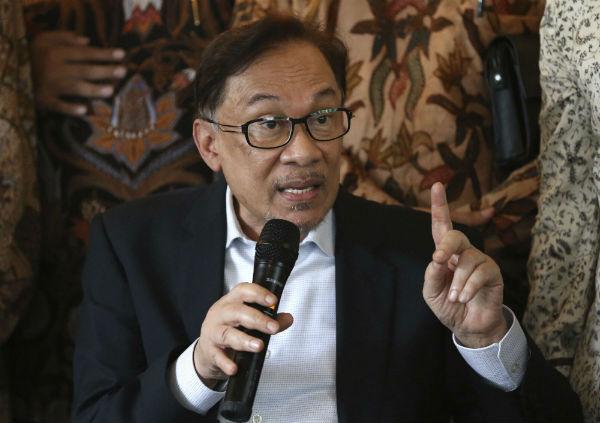 Anwar Ibrahim, leader de l'opposition malaisienne, en Indonésie le 20 mai 2018