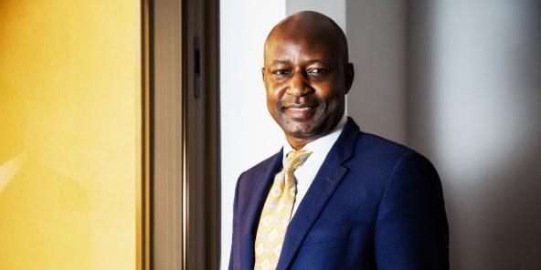 Saidou Tiendrébéogo, PDG de la CGE, au Burkina Faso en mai 2018