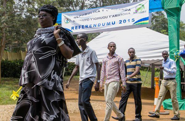 À Kigali, le 13décembre 2015, lors du référendum constitutionnel qui a permis à Paul Kagame de briguer un troisième mandat