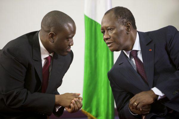 Guillaume Soro et Alassane Ouattara.