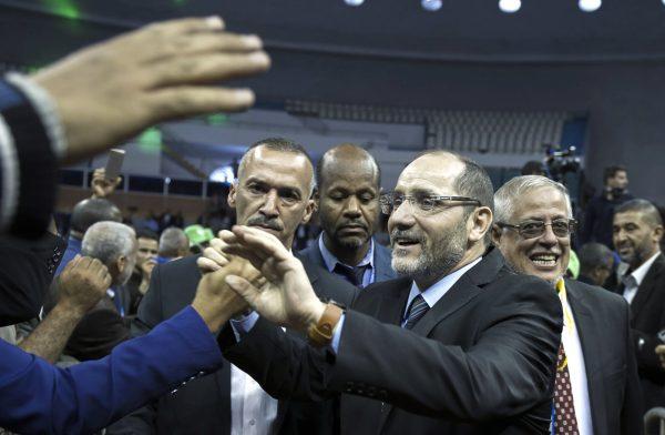 Abderrazak Makri, président du MPS, lors du congrès du parti, en juin2017.