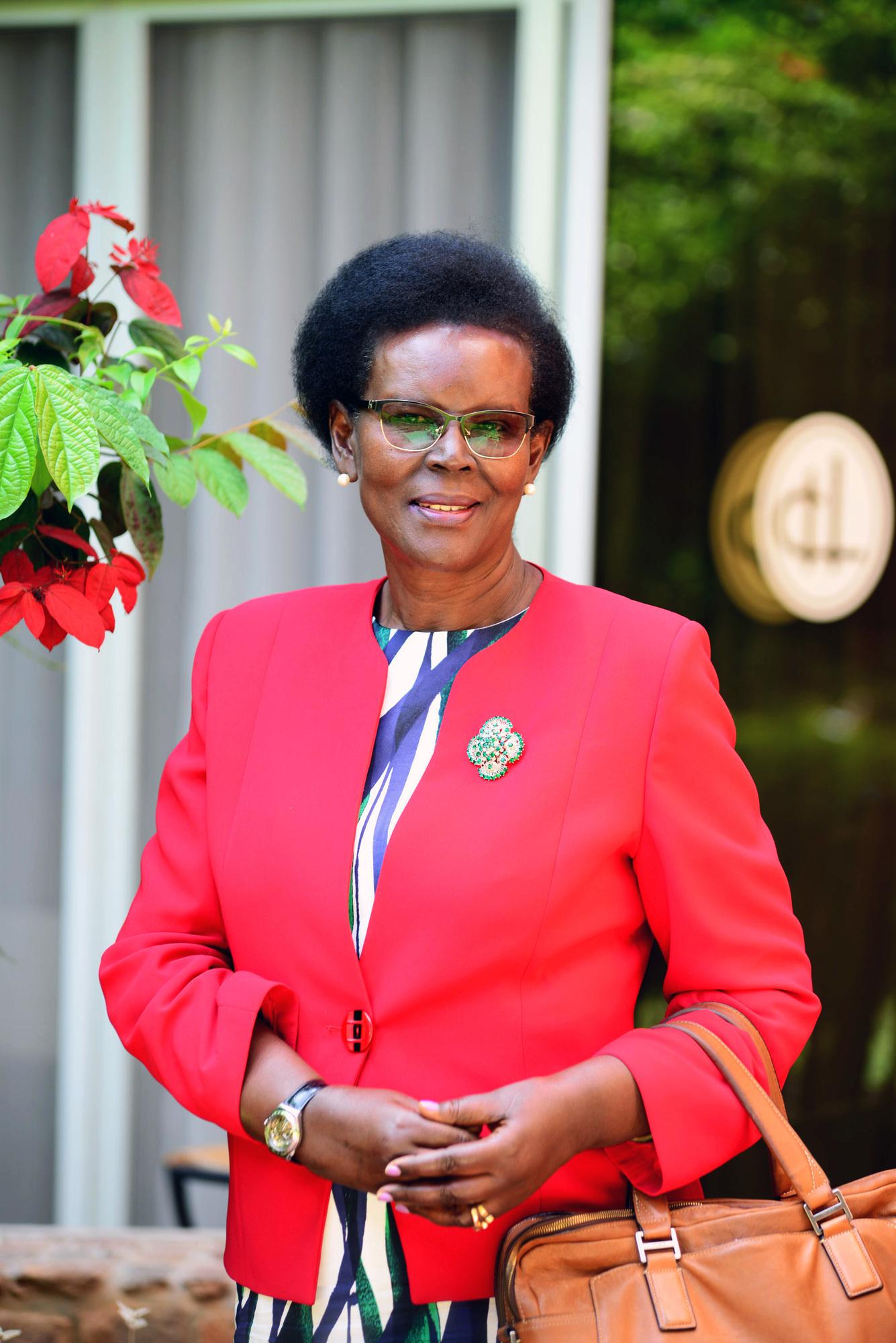 Anne-Marie Kantengwa, gerante de l'hotel Chez Lando a Kigali, le 13 Juillet 2018