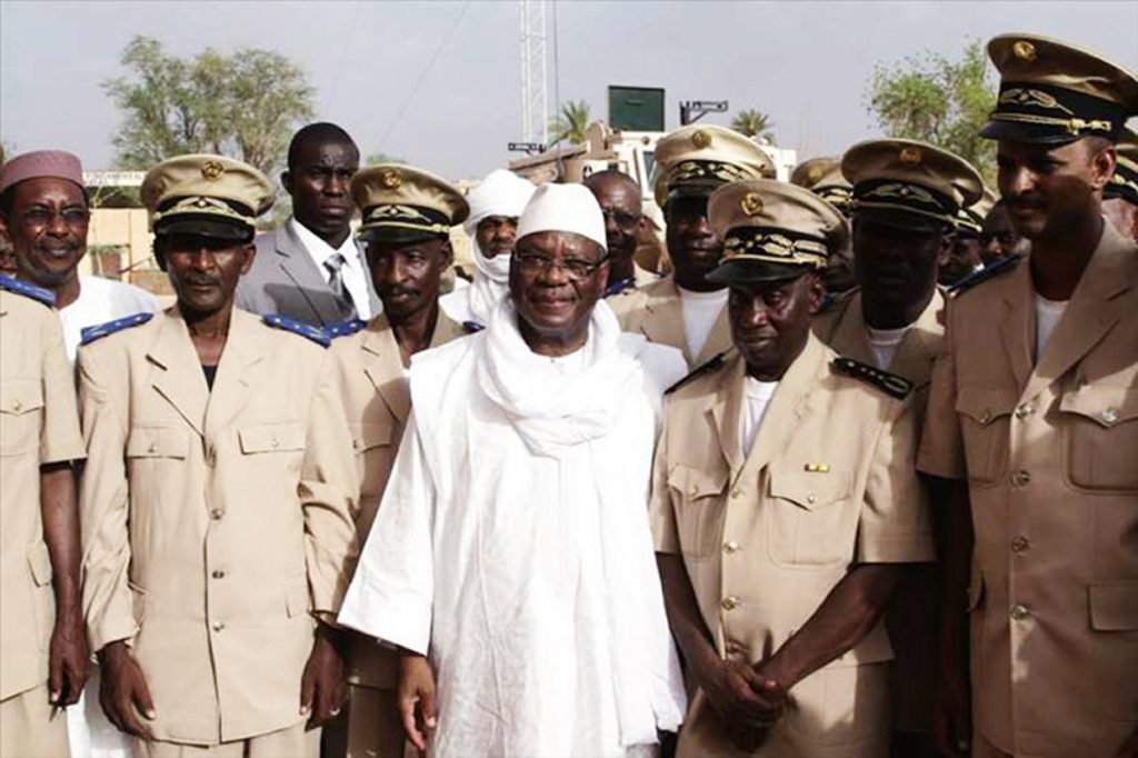 Ibrahim Boubacar Keïta à Kidal, en juillet2013.