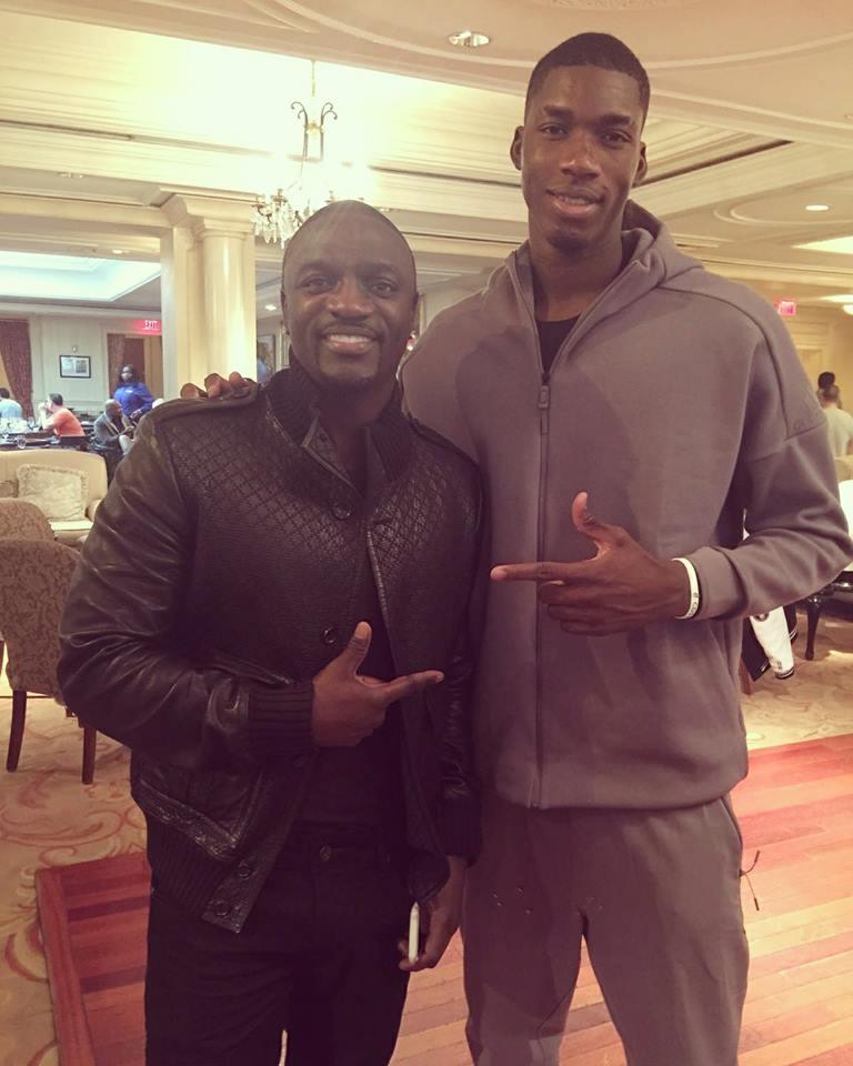 Akon et Cheick Diallo