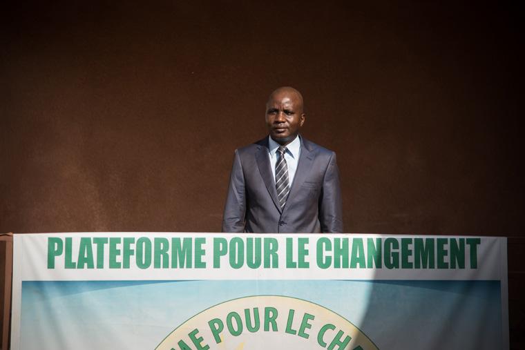 Le général Moussa Sinko Coulibaly à son quartier général de Niamakoro, le 12 juin 2018.