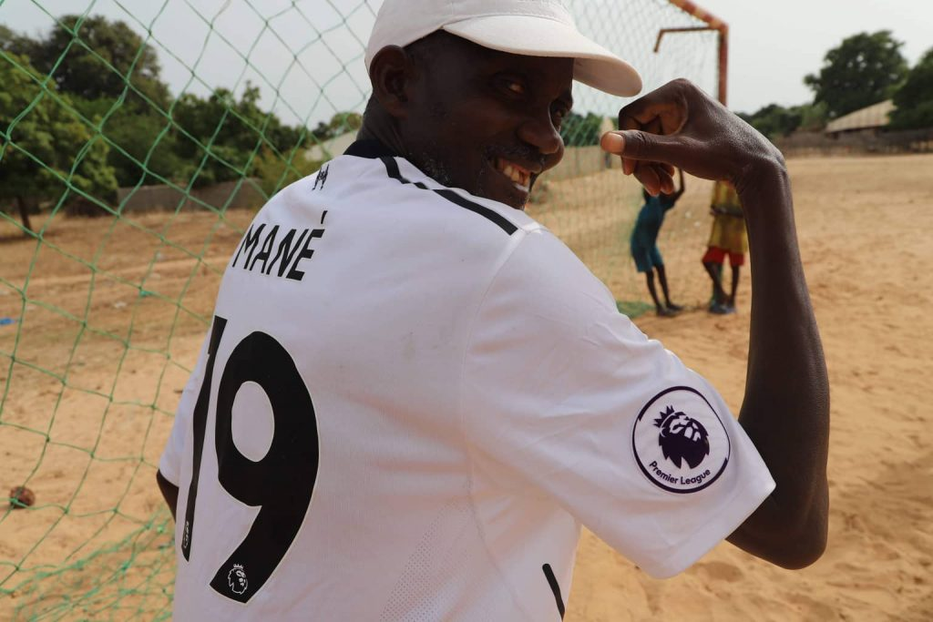 Un supporter de Sadio Mané, dans son village.