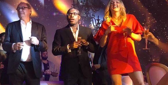 Teodorin Obiang à sa soirée d'anniversaire à Malabo.