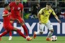 Le Colombien Santiago Arias, balle au pied, face à l'Angleterre, le 3 juillet 2018.