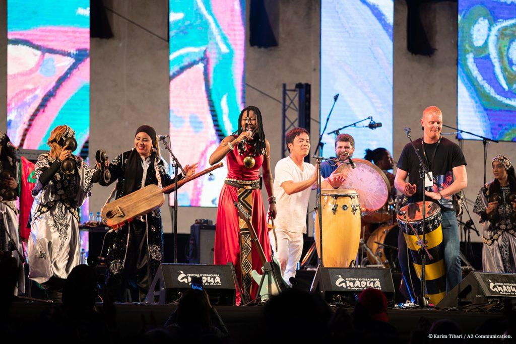 Lors du Festival d'Essaouira, au Maroc, le 22juin 2018.