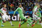 Lors du match Algérie-Allemagne, en 8e de finale de la Coupe du Monde 2014 au Brésil.