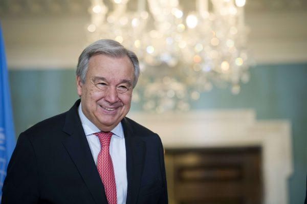Le secrétaire général des Nations unies Antonio Guterres à Washington le 23 juin 2018.