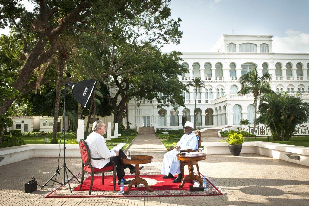 Lors de l'entretien avec Ibrahim Boubacar Keïta, le 26juin.
