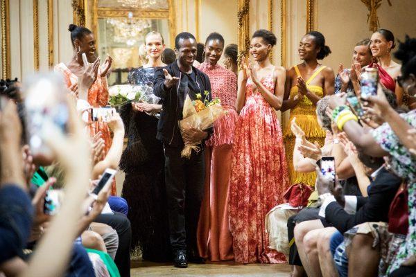 Le Camerounais Imane Ayissi le 2juillet, dans la capitale de la mode.