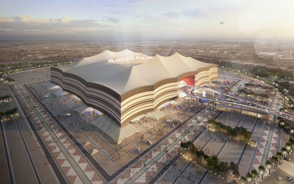 Le stade Al bayt au Qatar.