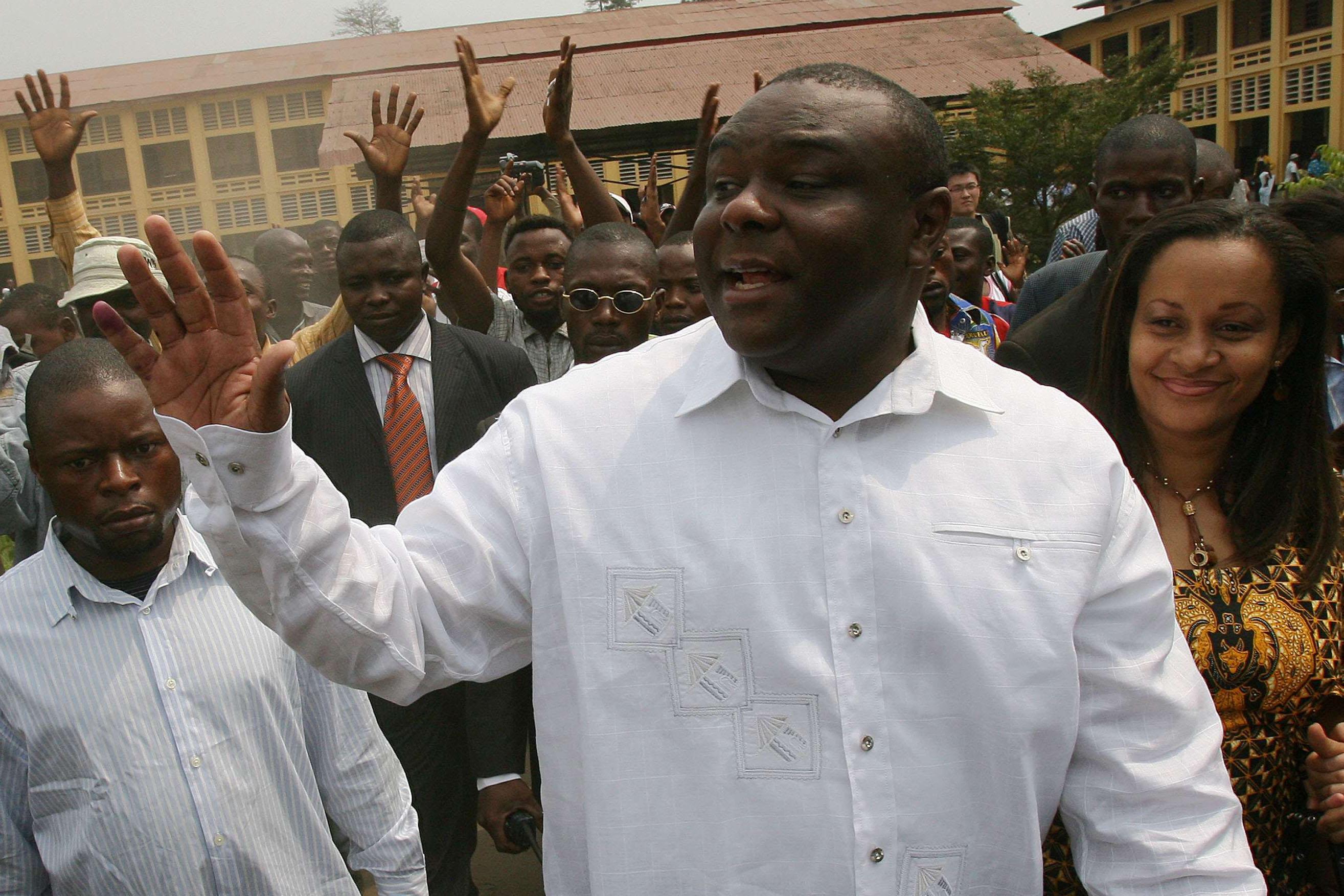 Jean-Pierre Bemba à Kinshasa lors des élections de 2006 (photo d'illustration).