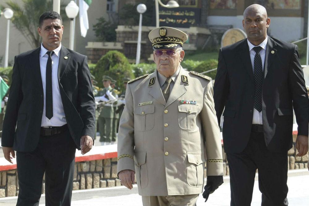 Ahmed Gaïd Salah, chef d'état-major et vice-ministre algérien de la Défense, à Alger le 1er juillet 2018.