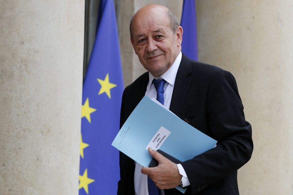 Le ministre français des Affaires étrangères, Jean-Yves Le Drian, à Paris en juin 2017.
