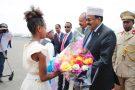 Isaias Afwerki, président érythréen, et  Mohamed Abdullahi Mohamed, président somalien, à Asmara, samedi 28 juillet 2018.