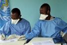 Des agents de l'OMS lors de la campagne de vaccination contre Ebola, à Mbandaka, en RDC le 30 mai 2018.