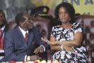 Robert Mugabe et son épouse, en février 2016.