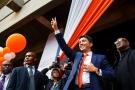 Andry Rajoelina, lors de l'annonce de sa candidature à la présidentielle, le 1er août 2018.