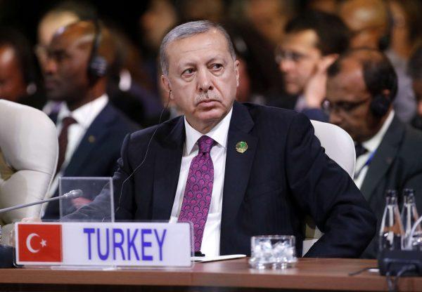 Le président turc Recep Tayyip Erdogan au dernier jour du sommet des BRICS à Johannesburg, en Afrique du Sud, le vendredi 27 juillet 2018.