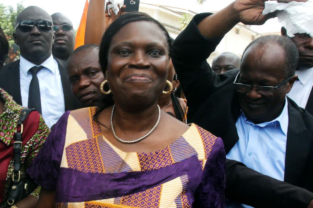 Simone Gbagbo, quelques heures après sa remise en liberté, mercredi 8 août 2018 à Abidjan.