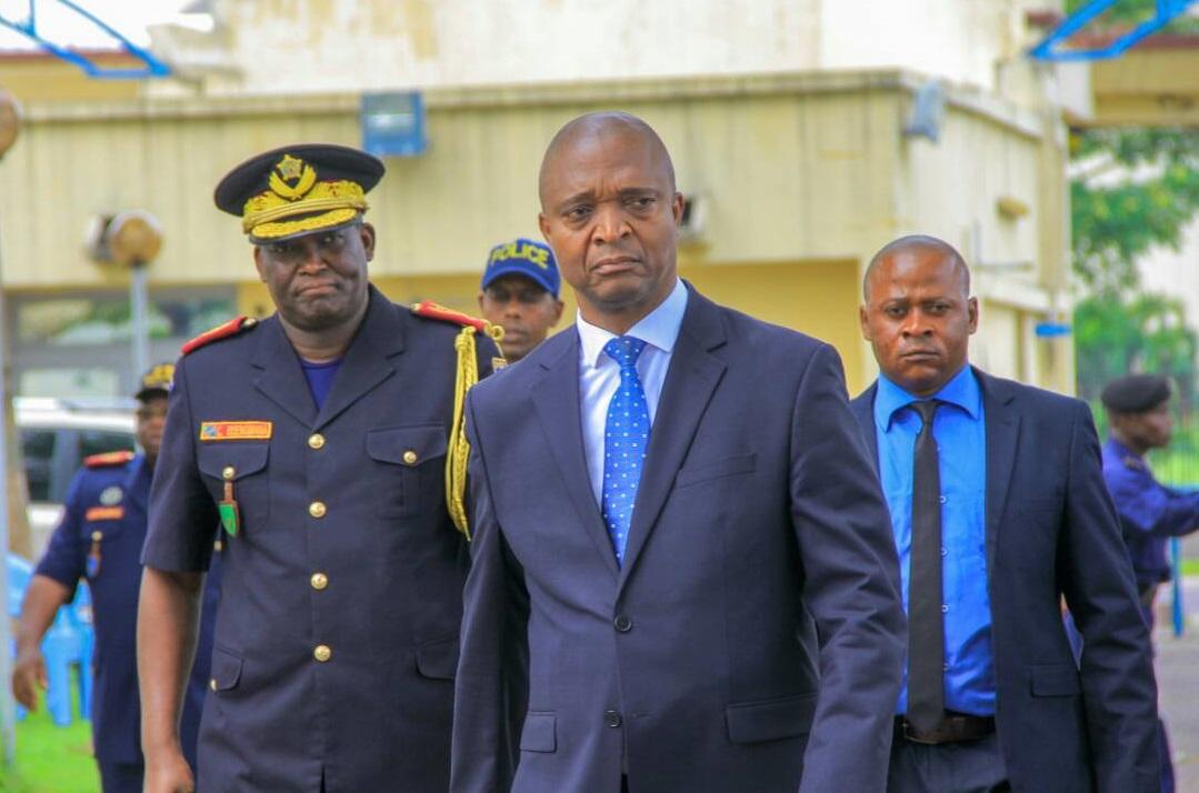 Emmanuel Ramazani Shadary, en 2018, lorsqu'il était ministre de l'Intérieur et de la Sécurité.
