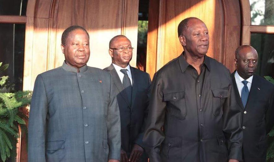 Henri Konan Bédié et Alassane Ouattara, le mercredi 8 août 2018.