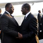 Le président sénégalais Macky Sall et son homologue ivoirien Alassane Ouattara, en octobre2012.