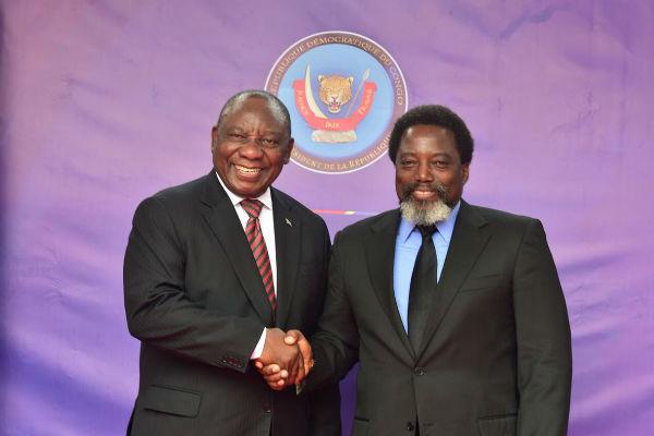 "RDC : Cyril Ramaphosa en ""visite de travail"" à Kinshasa"