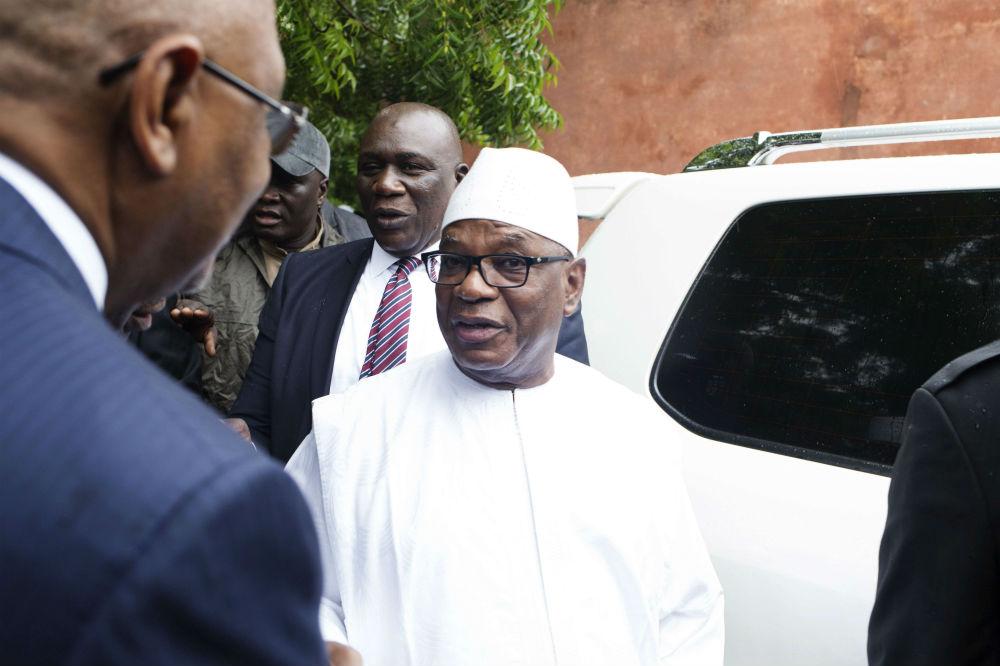 Ibrahim Boubacar Keïta, lors du second tour la présidentielle, le 12 août à Bamako.