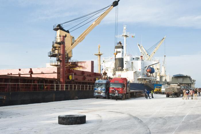 Le port de Conakry en 2010