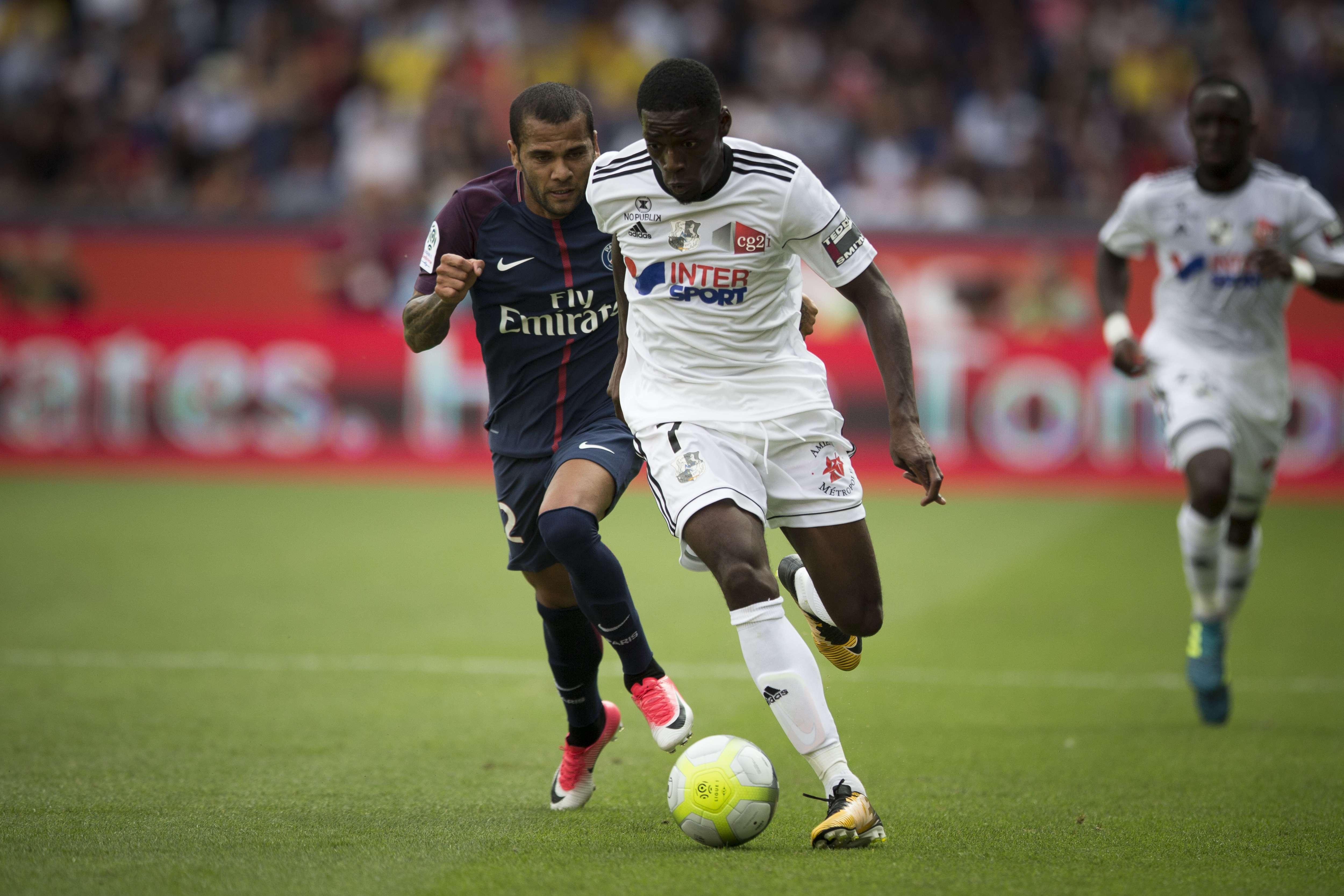 Harrison Manzala, en août 2017, sous les couleurs d'Amiens.